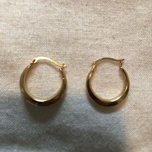 Jewelry - 14 K Yellow Gold Plated Mini Hoops